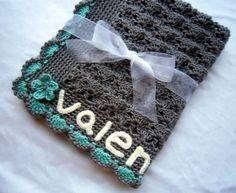 Personalized Baby Blanket - Monogram Baby Blanket - Customized Baby Blanket - Baby Girl Blanket - Baby Girl Blanket - Crochet Baby Blanket. $49.95, via Etsy.