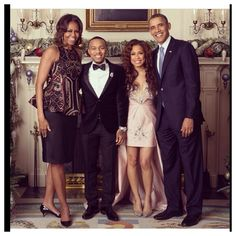 Bow wow and Keshia Chante with The Obamas