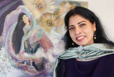 "Intersecting her two life passions, painting and healing, Dr. Sreelatha Varma is showcasing her ""Dream"" series at the Grafica Fine Art & Custom Framing gallery."