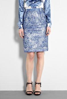 Preen metallic print skirt