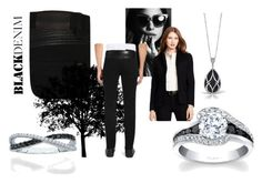 """Noir Rion"" by bengarelick ❤ liked on Polyvore featuring HUGO, Simon G., women's clothing, women, female, woman, misses, juniors, denim and blackdiamonds"