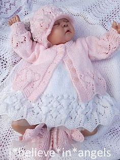 Free knitting pattern for Handsome Cables Baby Cardigan and matching Cabled Gnome Hat Knitting Dolls Clothes, Knitted Baby Clothes, Doll Clothes, Baby Knits, Cardigan Bebe, Sweater Hat, Baby Layette, Knitting For Kids, Free Knitting