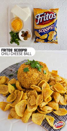 Sponsored by Frito-Lay l Cheesy. Crunchy. Creamy. This Fritos Chili Cheese Ball has it all, with a side of spice. Enjoy this easy app with your favorite people and make the season a little tastier! #mingleinabox