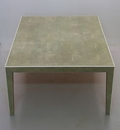 Coffee table in shagreen and bone
