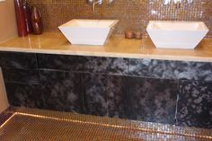 Check out this funky design! Bathroom Remodeling San Diego www.envisiondesignsd.com