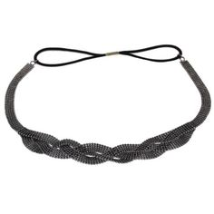 Metall-Stirnband-Geflochten-Haarband-Kopfband-Zopfgummi-Haarschmuck-Kopfschmuck