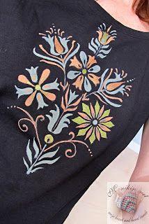Monikin svet: Maľované tričko Folklór pre Moniku