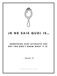 What Does 'Je Ne Sais Quoi' Really Mean? 15 Hilarious Guys Explain via @WhoWhatWear