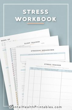 Mental Stress Planner, Journal & Trackers Hone in your mental focus using these stress trackers and schedule planners. Don't let the anxiety of looming deadlines hinder your well being.
