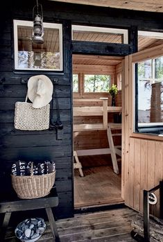 my scandinavian home: A beautiful pared-back Finnish cabin Scandinavian House, Design Sauna, Sauna House, Sauna Room, Outdoor Sauna, Finnish Sauna, Summer Cabins, Saunas, Cabins And Cottages