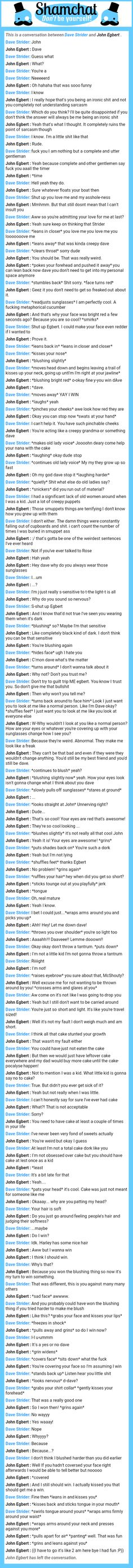 A conversation between John Egbert  and Dave Strider