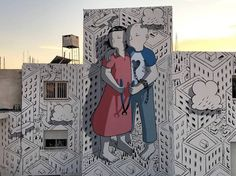L'artiste de rue italien Millo est pas mal prolifique cette année. Il vient d'achever une nouvelle fresque dans la ville portuaire de Paphos, dans le sud-ouest de la République de Chypre.