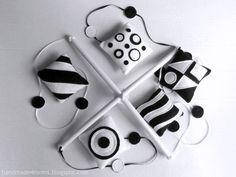 Черно-белый мобиль для новорожденного Black and white nursery mobile for baby