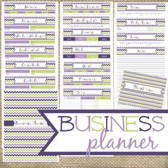Business Planner with 39 pages! Contacts, expenses, mileage, goals, daily, weekly, and monthly planners, and more.