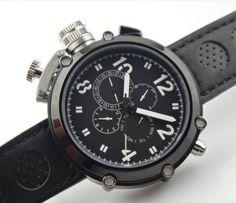 Parnis 50mm Preto Case Com Grande Rosto Canhoto Relógio Masculino Automático