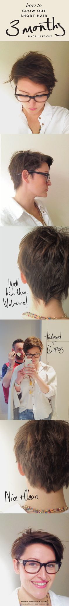 How to grow out short hair | 3 month stage. My hair journal of growing out an undercut. #pixiecut #shorthair #fauxhawk