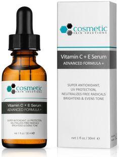 no.1 BEST Vitamin C E Serum Combination Antioxidant Treatment - 1 oz / 30 ml - Super Combination Antioxidant Formula - 15% Vitamin C, 1% Vitamin E, and 0.5% Ferulic acid. * You can get additional details, click the image : Face Oil and Serums