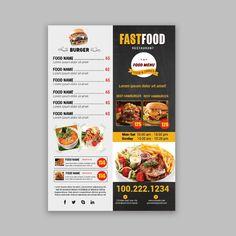 Dessert Restaurants, Fast Food Restaurant, Seafood Restaurant, Cafe Restaurant, Pizza Menu Design, Food Menu Design, Food Poster Design, Pizza Flyer, Menu Flyer