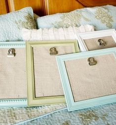 #DIY Picture Frame Clip Boards for #baby nursery #decor