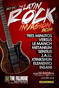 Ya estamos más cerca para la gran fiesta que se celebra anualmente y que presenta lo mejor de la escena local de Rock Latino en Washington DC!