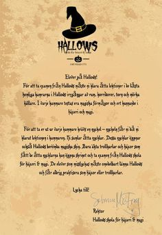 Escape game: Hallows skola för häxeri & magi 7-9 årHALLOWEENNYHET!  Ett superkul Escape game på Hallows skola för häxeri & magi där man  utbildar trollkarlar och häxor i åldern 7-9 år. #escapegame #escaperoom #halloween #halloweenfest #halloweenlekar Exit Games, Escape Games, Escape Room, Grape Vines, Harry Potter, Halloween, Inspiration, Biblical Inspiration, Vineyard Vines