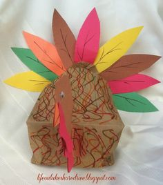 Paper bag turkey for thanksgiving thanksgiving craft and turkey craft sciox Choice Image