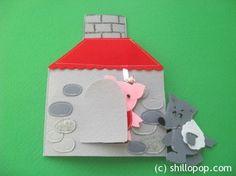 The Three Little Pigs Felt Finger Puppet Toys Pattern