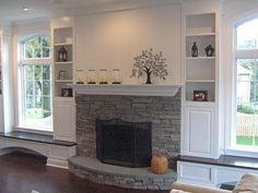 Interior Stone Veneer Fireplace - Harbour Mist Pinnacle Stone Products