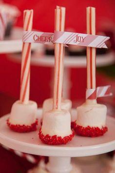 Marshmallow Peppermint Pops #marshmallow #peppermint