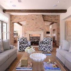 Two Sided Fireplace, Transitional, Living Room, Munger Interiors