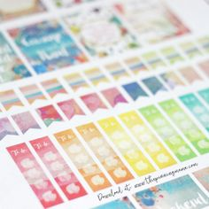 Free Erin Condren Planner Stickers- These watercolor stickers are TO-DIE-FOR! Free Silhouette CAMEO print and cut file and image file. Home Planner, Planner Tips, Happy Planner, Silhouette Cameo, Free Silhouette, Free Erin Condren, Erin Condren Life Planner, Printable Planner Stickers, Free Printables
