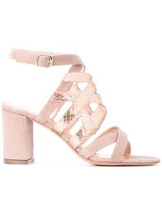 Jean-michel-cazabat   metallic strap sandals