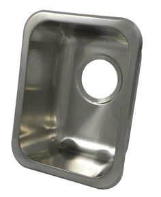 Opella Rectangle Bar/Prep/Entertainment Sink In Brushed Stainless Stee  Traditional Kitchen Sinks