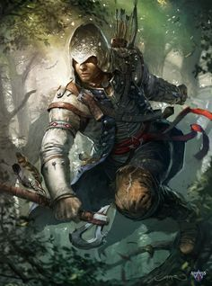 Cover ImagineFX N.89 , Assassin's Creed 3 by Okmer.deviantart.com
