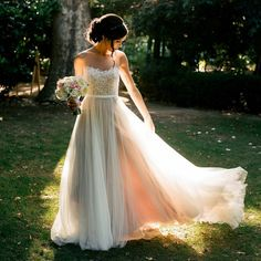 Country Wedding Dress, Beach Wedding Dress, Summer Wedding