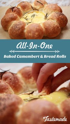 Why make more mess for yourself to clean up? Combine baked camembert and fresh bread rolls into one!