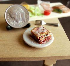 Dollhouse Miniature Food Lasagna 112 Scale by fairchildart on Etsy