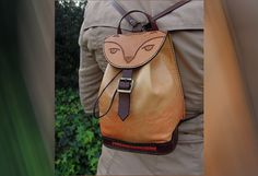 Feline+leather+backpack+%2F+%2F+Feline+handmade+leather+backpack.