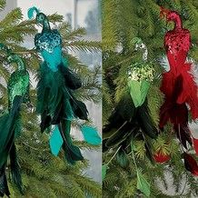 139 Best PEACOCK Christmas Tree Decorations Images On