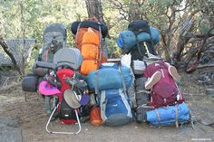 Backpacking Gear for 6 Adults and 2 Toddlers!