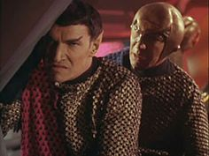 While investigating a series of destroyed outposts, the Enterprise discovers a lone Romulan vessel with a cloaking device. The Romulans, having never been seen by humans, are revealed to visually resemble Vulcans Star Wars, Star Trek Tos, Spock, Fiction Movies, Science Fiction, Star Trek 1966, Star Trek Beyond, Star Trek Characters, Star Trek Original Series