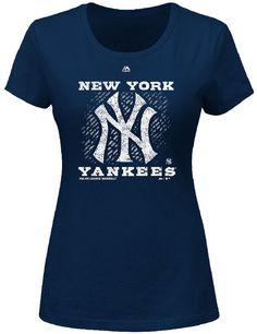 New York Yankees Ladies Shining Through Tee Shirt by Majestic $27.95