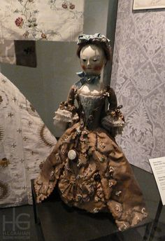 Wooden fashion doll with costume and accessories, England, 1755-1760 by HLGraham, via Flickr
