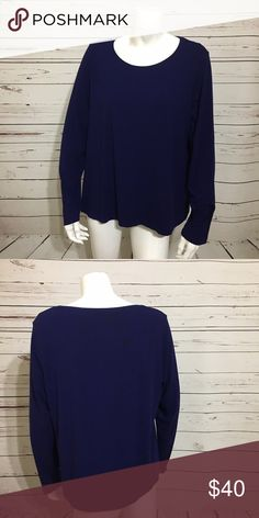 EILEEN FISHER RAYON NAVY BLUE LONG SLEEVE BLOUSE EILEEN FISHER WOMAN RAYON LYCRA NAVY BLUE LONG SLEEVE BLOUSE TOP SIZE 1X PLUS  Condition: mint condition  Measurement  Armpit to armpit: 24 Bottom armpit to wrist: 20 Back of the neck to bottom hem: 27   Measurements are taken with item laying flat. Measurements are all in inches.  Please check pictures and confirm before purchase. No refund or return. Eileen Fisher Tops Tees - Long Sleeve