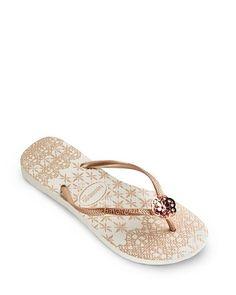 Fab Haviana flip flops. ($40)