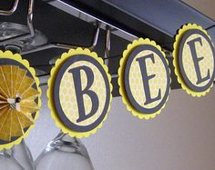 Mommy to Bee / Bumblebee Baby Shower Banner / by HeartsandCraftsy