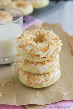 "Does the ""baked"" part of a baked coconut donut balance out the ""donut"" part? Then again, who cares?"