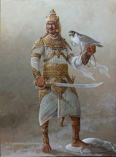 Prasanna Weerakkody - Paintings of Sri Lankan history Armor Concept, Concept Art, Hinduism History, Character Art, Character Design, Warrior Paint, Warrior Outfit, King Photo, India Art