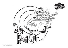 Big Red Car – The Wiggles Coloring Pages for Kids