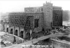 The hydro plant under construction in 1900 (Photo courtesy of Valentine Richmond History Center)